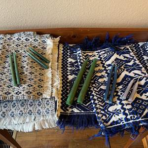 Lot # 114 - Gorgeous Vintage Runners * Candles