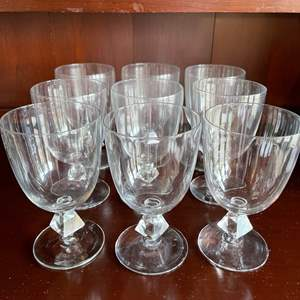 Lot # 122 - Gorgeous Cut Water Glasses * Nice heavy feel