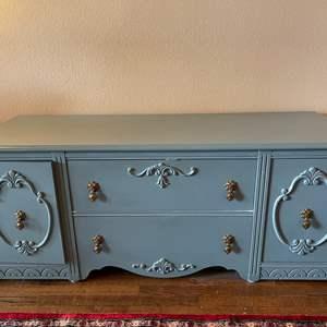 Lot # 125 - Unique Antique Painted Gorgeous Sideboard * Furniture