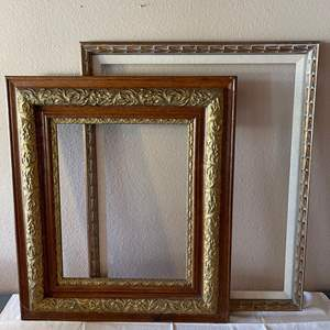 Lot # 143 - 2 Antique Frames One with Gold Gilt