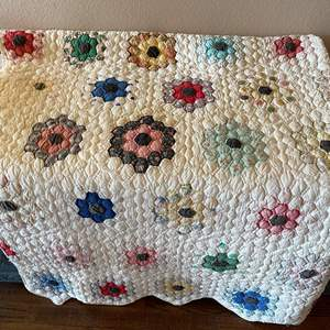 Lot # 145 - Twin Size Hand Stitched Homemade Quilt