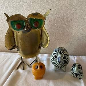 Lot # 155 - Fun Owl Home Decor Lot