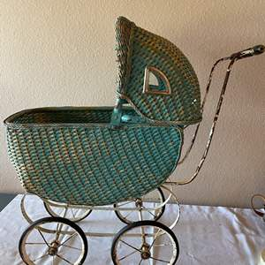 Lot # 161 - Very Special Antique Baby Buggy