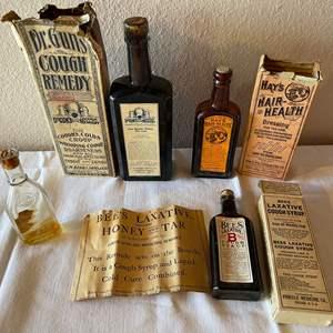 Lot # 162 - Vintage Medicine & Personal Care Glass Bottles