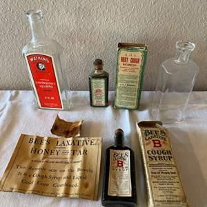 Lot # 164 - Medicine and Personal Care Vintage Bottles