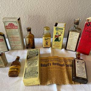 Lot # 165 - Old Medicine Bottles * Many unopened and with original Boxes