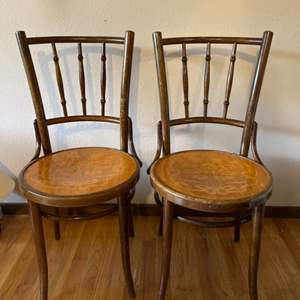 Lot # 179 - Matching Antique Wood Chairs made in Czechoslovakia * Furniture