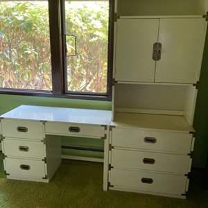 Lot # 187 - Desk * Hutch * Dresser * Furniture