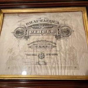 Lot # 194 - Literary & Scientific circle Chautauqua Certificate * Very nice Old Frame