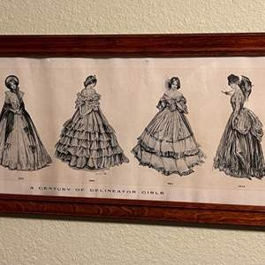 Lot # 219 - A Century of Delineator Girls Print
