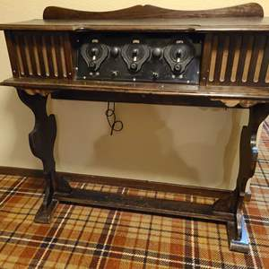 Lot # 220 - Antique Tube Radio Console Table * Super Cool * Furniture
