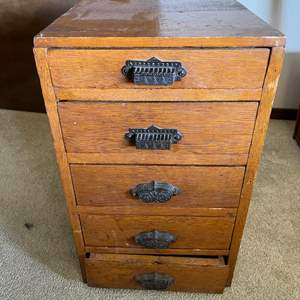 Lot # 228 - Awesome Small 5 Drawer Antique Furniture Piece
