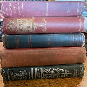 Lot # 239 - Ivanhoe by Sir Walter Scott * Adventure of Tom Sawyer 1904 * Agnes of Sorrento 1890