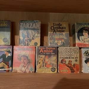 Lot # 242 - Vintage Book Lot * Little Orphan Annie * Tarzan * Little Big Shot * 1930's