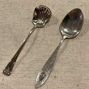 Lot #257 - Small Wolfenden Sterling Silver Spoon & Small Sterling Spoon