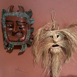 Lot #271 - 2 Hand made Masks