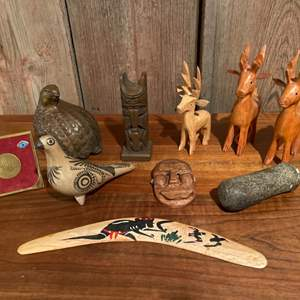 Lot #273 - Wood Animal Figurines and More!