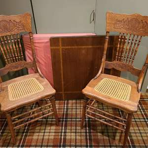 Lot #277 - Antique Chairs and 2 card tables