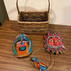 Lot #279 - 2 Masks * Bird * Basket