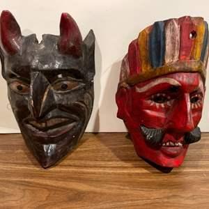 Lot #280 - 2 Hand Made Masks