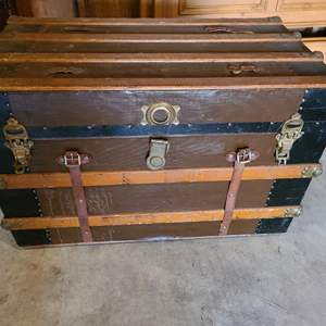 Lot #282 - Another Antique Trunk * Flat Top