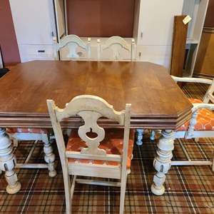 Lot #291 - Really Nice Dining Table and 6 chairs