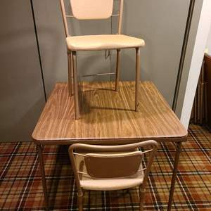 Lot #294 - Card Table and 2 Folding Chairs
