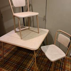 Lot #295 - Cosco Card Table and 2 Folding Chairs