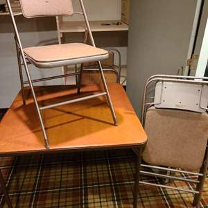 Lot #296 - Samsonite Card Table and 4 Chairs