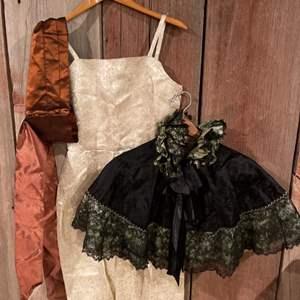 Lot #313 - Vintage Clothing * Dress * Capelet * Sash