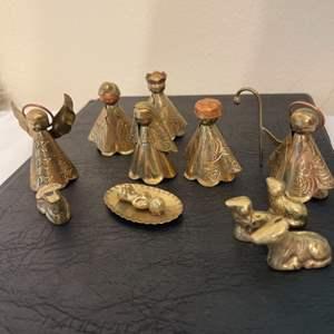 Lot #318 - Wonderful Miniature Nativity Set