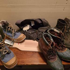 Lot #324 - Outdoors * Fly Fishing * River Fishing Boots * Fly Fishing Vest * Filet board