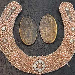 Lot # 330 - Vintage Beaded Collar with Hook Closure