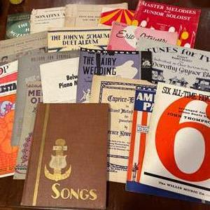 Lot # 331 - Vintage Sheet Music & Piano Books * Fair to Good Condition
