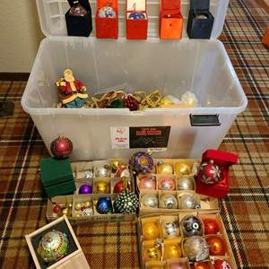 Lot # 334 - Vintage glass ornaments * Children's hospital ornaments