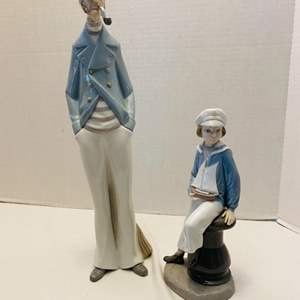 Lot #194 - Lladro Sea Captain Issued 1969, Retired 1991 and Sailor Boy #4810 Retired