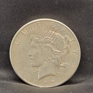Lot 6 - 1923-S Peace SILVER Dollar