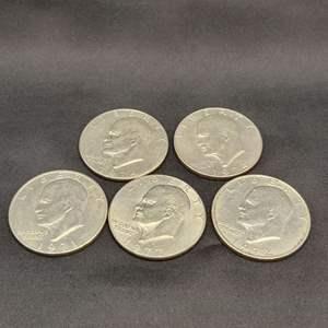 Lot 8 - Five Eisenhower Dollars asstd dates