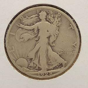 Lot 12 - 1928-S SILVER Walking Liberty Half Dollar