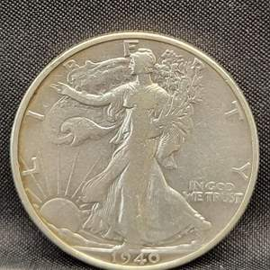 Lot 14 - 1940 S SILVER Walking Liberty Half Dollar