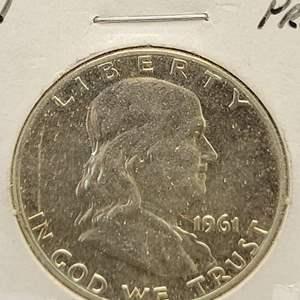 Lot 16 - 1961 PROOF SILVER Franklin Half Dollar