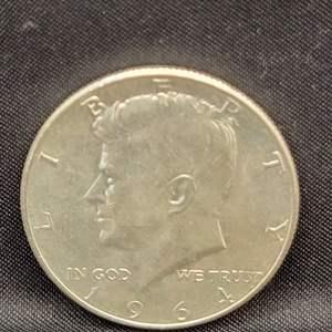 Lot 17 - 1964 UNC SILVER Kennedy Half Dollar