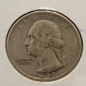 Lot 20 - 1935 SILVER Washington Quarter Dollar