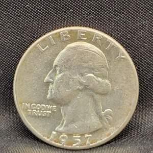 Lot 22 - 1957 SILVER Washington Quarter Dollar