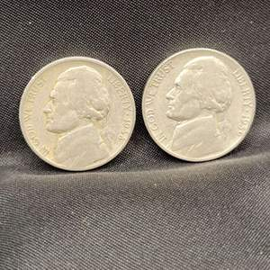 Lot 40 - KEY DATES, 1938, 1939 Jefferson Nickels, first two years of issue.