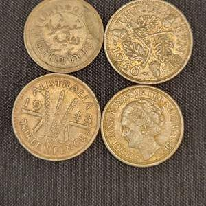 Lot 66 - Four SILVER 1930's-1940's Foreign Coins