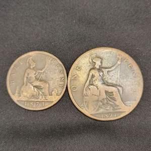 Lot 70 - 1873, 1897 British Coins