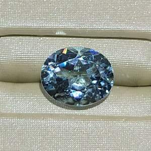 Lot 83 - 3.13ct Genuine Blue Topaz11 x 9mm Oval Faceted Cut Gemstone for Jewelry Making.