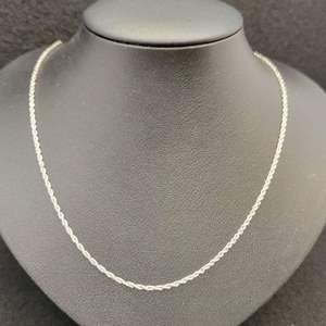 """Lot 87 - Vintage Sterling Silver Rope Chain, 18"""""""