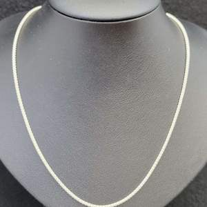 """Lot 88 - Vintage Sterling Silver Chain, 18"""""""